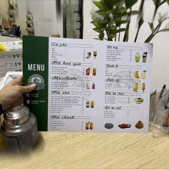 Thiết kế in menu nhựa plastic pvc chống nước, in thực đơn nhựa chống nước, thiết kế in Gia Khiêm, thiết kế in giakhiem.vn